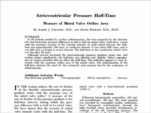 pressure-half-time