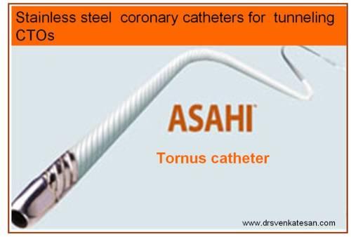 asahi tornus coroanry cto catheter chronic total occlusion