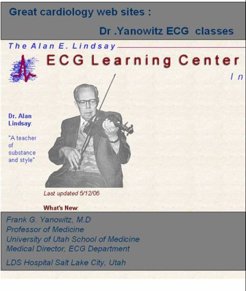 yanowitz great cardiology ecg website
