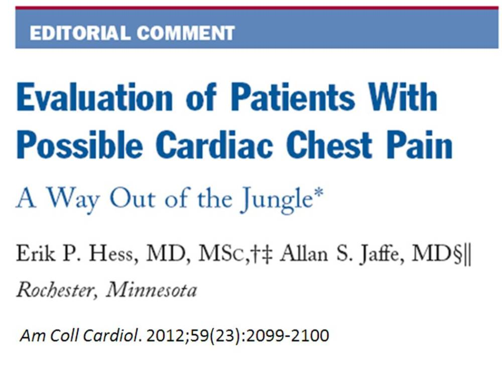 A young man enters ER with chest pain  . . . 1 ,  2  , 3 . . . and get him out of ER  !   (2/2)