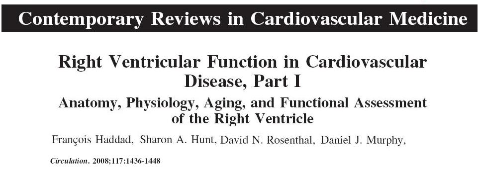 Right ventricle structure and function: A review