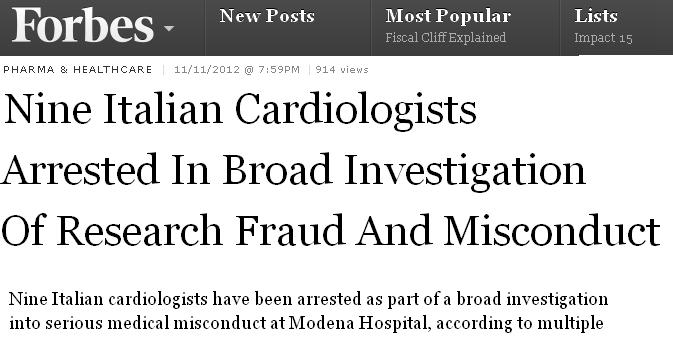When a cath lab  becomes a breeding ground for criminal activity   . . . we are shocked !