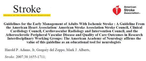 aha stroke guidelines 2007