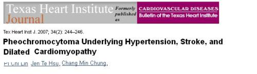 pheochromocytoma and dcm dilated cardiomyopathy .catecholamine induced dcm tachycardiac cardiomyopathy