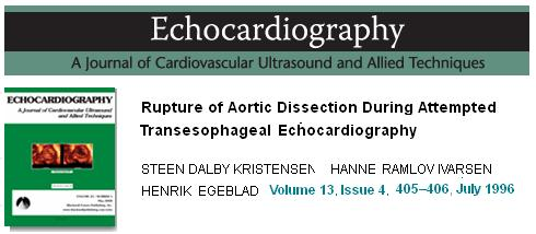 Risk of aortic rupture during tee in aortic dissection  tran esophageal echo