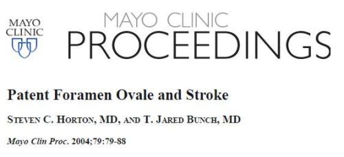 patent foramen ovale and stroke