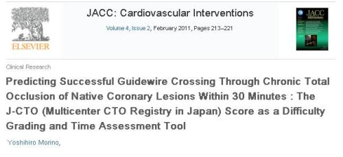 cto score success in chronic total occlusion