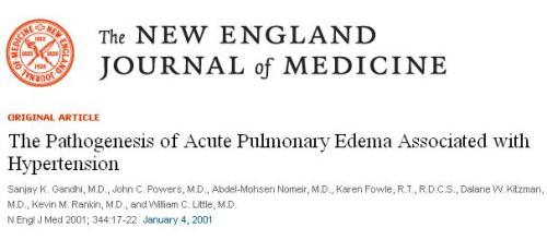 mechanism of acute lvf in hypertension flash pulmonary edema lvedp in ht nejm 2005 sanjay gandhi