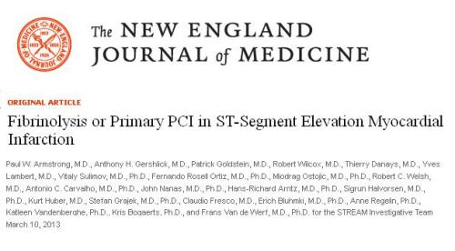 STREAM STUDY NEJM PRIMARY PCI VS FIBRINOLYSIS