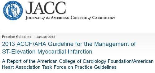 ACC GUIDELINES FOR STEMI 2013