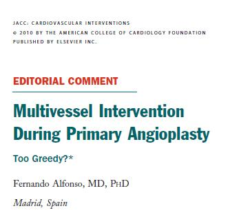multivessel angioplasty during stemi