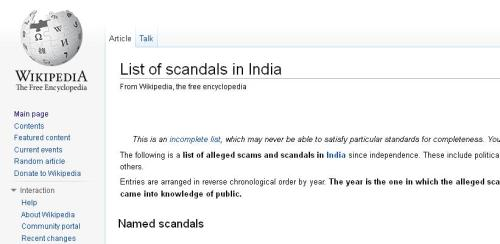 scandals in india