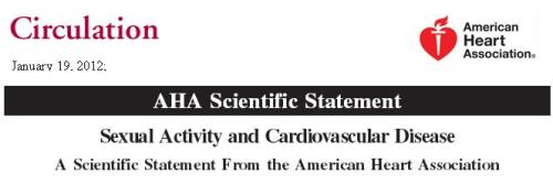 sexual activity in cardiovascular disease  circulation 2012