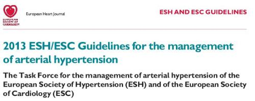European society of cardiology 2013 guidelines for hypertension