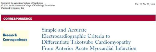 how to differentiate takotsubo cardiomyopathy from anterior stemi