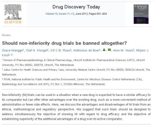 Non inferiority drug trial 2
