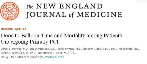 nejm stemi most important article