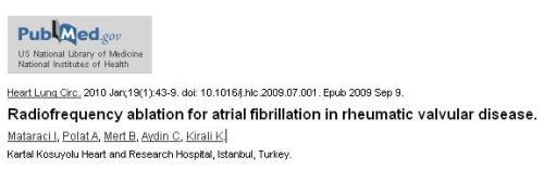 rf ablation in rheumatic atrial fibrillation