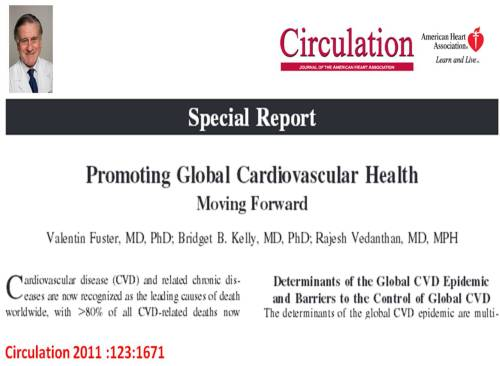 global  cardiovascular health valentine fuster circulation 2011