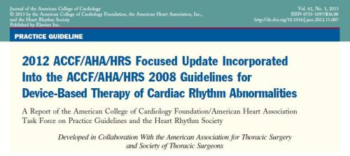 Guidelines ICD pacemaker 2012 ACC AHA