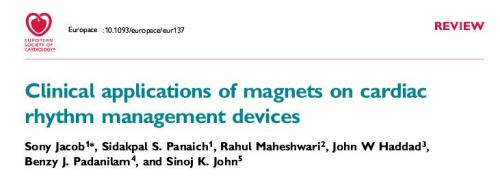 role of magnet application on pacemkakers icd  oversensing magnet rate