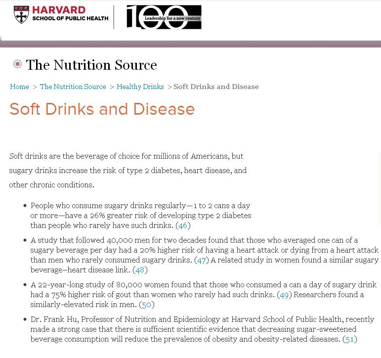 soft drinks and impact on health