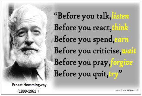 Ernest hemmingway quotes