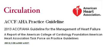 acc aha  accf guidelines chf 2013