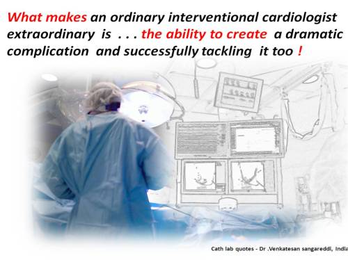Interventional cardiologist extraordinary  cath lab tips invasive great