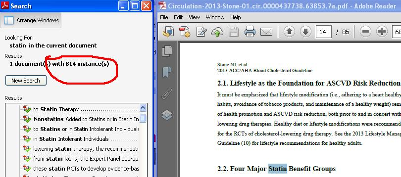 statin search acc document