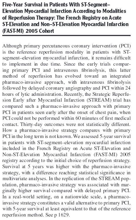 FAST MI primary PCI  trial 2