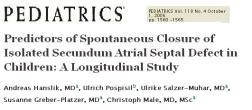 asd spontaneous closure