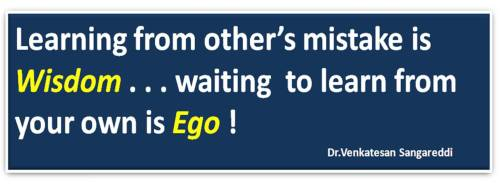 Wisdom ego quotes brainy best dr s venkatesan top inspirational