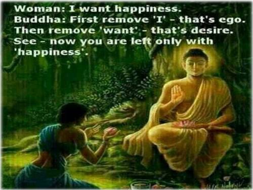 Happiness quote from Buddha