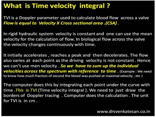 What is time velocity integral  TVI echocardiography