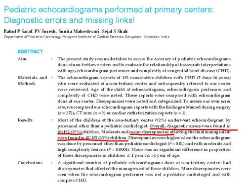 pediatric echocardiography by adults cardiologist