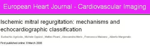 mechanism of ischemic mitral regurgitation papillary muscle dysfunction
