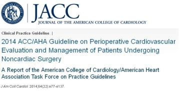 acc aha guidelines for perioperative evaluation noncardiac surgery risk