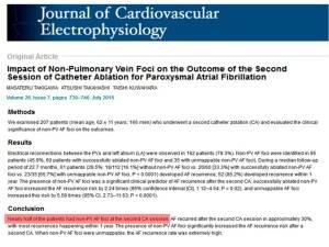 pulmonary vien ablatioan atrial fibrillation carto non pulmonary vien connection