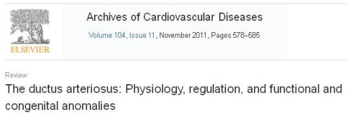 Review article on pda ductus patent ductus