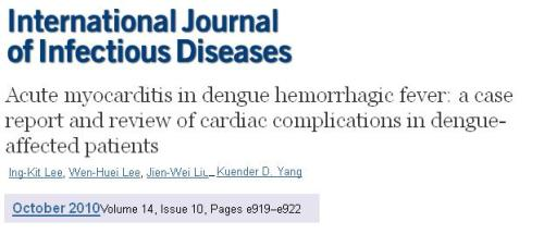 dengue myocarditis