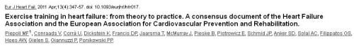 excercise training in heart failure